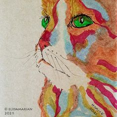CAMERA EN KWAST Art Journals, Photographs, Paintings, Cats, Animals, Gatos, Animales, Paint, Animaux