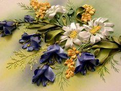 silk ribbon embroidery designs: http://homedecoratingideasphotos.blogspot.com/2012/10/silk-ribbon-embroidery.html