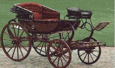 Barouche - a four-wheeled carriage with a fold-up hood at the back Letter Of Marque, Horse Drawn Wagon, Horse Cards, Old Wagons, Horse Carriage, Steampunk Design, Regency Era, Wheelbarrow, Antique Cars
