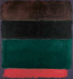 Mark Rothko | Untitled (Red-Brown, Black, Green, Red) (1962) | Artsy