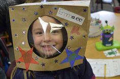 space unit - paper bag helmet