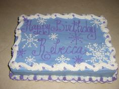 Snowflake cake - A 9 x 13 sheet cake with a snowflake design. Thanks for looking.
