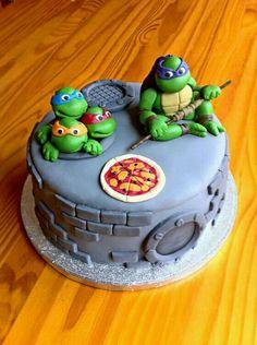 Ninja Cake, Tmnt Cake, Ninja Turtle Birthday, Ninja Turtle Party, Teenage Ninja Turtles, Ninja Party, Fondant Cakes, Cupcake Cakes, Cute Cakes