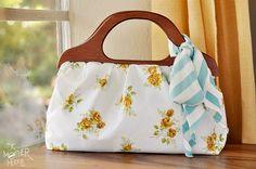 How to sew a Wood Handle Handbag