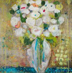 """Yellow Drip"" 36x36 mixed media Available at Shain Gallery 704-334-7744"
