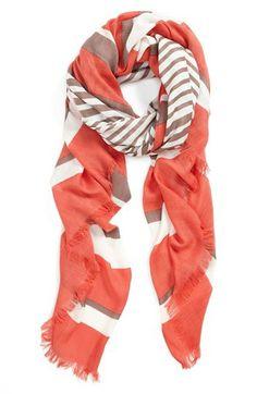 Vince Camuto Stripe Oversized Wrap | Nordstrom