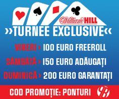 William Hill: Turneu gratuit si concurs de predictii! - Poker