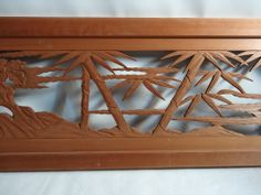 RANMA JAPANESE TRANSOM | Details about Japanese Hand Carved Wood Sculpture Ranma Transom Bamboo ...