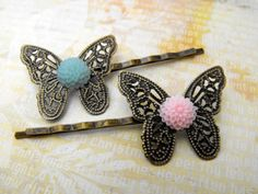 Bobby Pins  Vintage Style Antique Brass Bobby Pin by ladeebee, $12.00