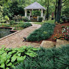 Create a Garden Getaway  Destinations bring out the child in all of us. My heart leaps when I walk into a garden that sports a shelter of some sort. Plain or fancy, rustic or refined, covered spaces aren't just pretty―they offer a retreat from the Southern sun.