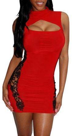 Love Thrill (Red)-Great Glam is the web's top online shop for trendy clubbin styles, fashionable party dress and bar wear, super hot clubbing clothing, stylish going out shirt, partying clothes, super cute and sexy club fashions, halter and tube tops, bel