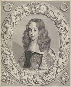 Portret van Willem III, prins van Oranje, Johannes van Houten, Justus Danckerts, 1660 - 1701