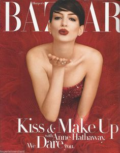 Anne Hathaway in Harper's Bazaar magazine
