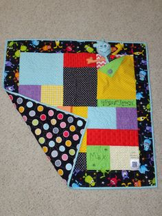 Me and My Monster Kid's Quilt for Max!