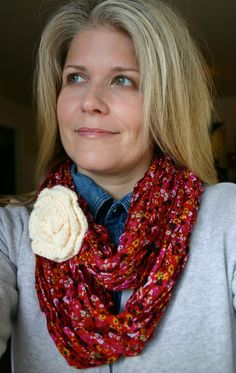 Easy DIY! Make your scarf an infinity scarf!