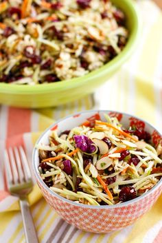 Ramen Noodle Salad -- this is the broccoli ramen salad to end all broccoli ramen noodle salads, light and flavorful with a touch of added sweetness! Pretty sure it's going to be my new go-to side for potlucks and parties...