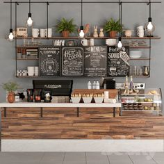 10 Awesome Indoor Plant Decoration Ideas To Make Natural Comfort In Your Home Cute Coffee Shop, Small Coffee Shop, Coffee Shop Bar, Rustic Coffee Shop, Coffee Shop Interior Design, Coffee Shop Design, Bakery Interior Design, Coffee Cafe Interior, Bakery Shop Design