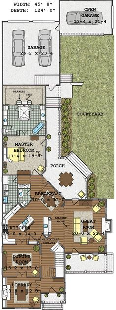 Long Narrow House With Possible Open Floor Plan For The