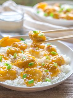 Gluten Free Orange Chicken (Chinese Style) with Paleo Option - An easy Weeknight family supper with just a few simple ingredients!