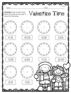 Second Grade Print 'N Go Valentine Free Preview
