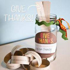 Free download: Thanksgiving Blessing Jar | Money Saving Mom®
