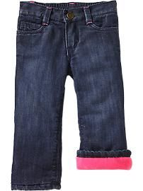 Fleece Lined Jeans for Baby