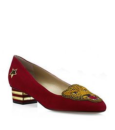 Charlotte Olympia Mascot Suede Pump.