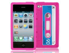 Tape Shaped Silicone Case Cover for iPhone 4 (Pink)