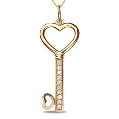 Etsy NissoniJewelry presents - Ladies 1/4CT Diamond Key Pendant in 14k Pink Gold with Gold Chain    Model Number:UB7563PP    https://www.etsy.com/ru/listing/275606868/ladies-14ct-diamond-key-pendant-in-14k