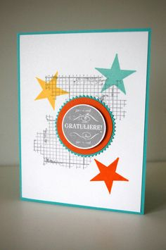 Stampin Up Simply Stars Wimpeleien Off the grid