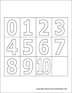 Numbers | Free Printable Templates & Coloring Pages