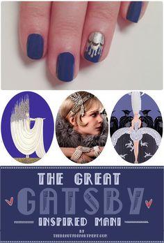 Gatsby Inspired-Nails  TUTORIAL #bellashoot #nailart
