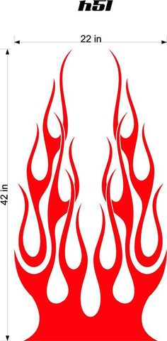 Auto Truck Car Hood Flames Stickers Graphics Decals HH51