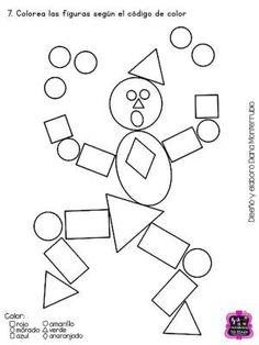 Shapes Worksheets, Kids Math Worksheets, Preschool Learning Activities, Kindergarten Activities, Preschool Activities, Teaching Geometry, Teaching Shapes, Shape Pictures, Math For Kids