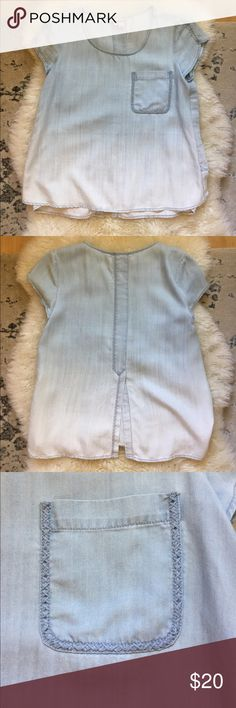 Ombré Holding Horses top Ombré Holding Horses top. From Anthropologie. Worn once, no flaws, new condition. Very soft material. Petite. Anthropologie Tops Blouses