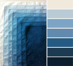 Shades of blue color inspiration #color #blue #colorpalette
