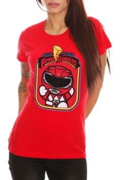 Mighty Morphin Power Rangers Red Ranger Girls T-Shirt
