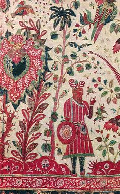 17th century Golconda Floor Cloth from the Calico Museum of Textiles. #indiantextiles #indian #chintz http://www.calicomuseum.com/