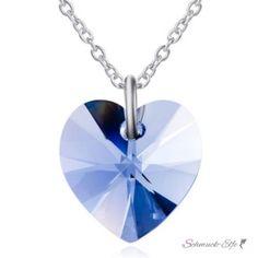 Anhänger Swarovski Elements Heart Magic blue aus 925...