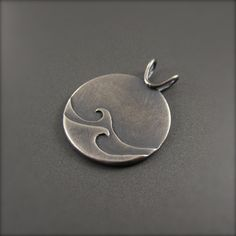 The Wind and the Water Pendant - Standard Darkened Silver – Beth Millner Jewelry