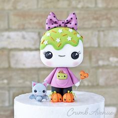 Cute Polymer Clay, Cute Clay, Polymer Clay Crafts, Cute Halloween Cakes, Halloween Clay, Ghost Cake, Cake Topper Tutorial, Fondant Toppers, Cupcake