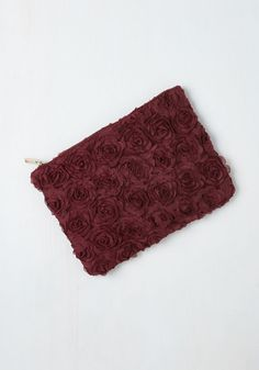 Chic to Chic Clutch in Wine. The rich burgundy hue of this floral clutch adds a bloom of pure joy to an already exuberant evening! #red #modcloth