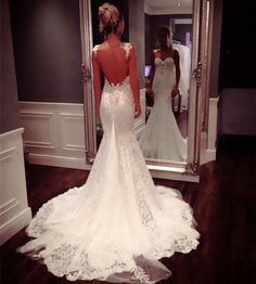 Cheap dress wedding red, Buy Quality wedding dress mermaid lace directly from China wedding towel Suppliers: Sexy Backless Mermaid Wedding Dresses With lace Strap 2015 Luxury Crystal Bridal Dresses Long vest