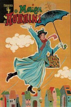 Μαίρη Πόππινς | Palaiobibliopolio.gr Old Children's Books, Childrens Books, Disney Characters, Fictional Characters, Snow White, Greek, Baseball Cards, Disney Princess, Art
