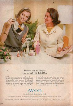 Anuncio publicitario de Cosmeticos Avon Venezuela. 1967.