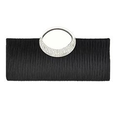 New Trending Clutch Bags: Fashion Road Womens Luxury Evening Wedding Party Purse Clutch Rhinestone Satin Pleated Handbag Wallet Black. Fashion Road Womens Luxury Evening Wedding Party Purse Clutch Rhinestone Satin Pleated Handbag Wallet Black  Special Offer: $12.99  211 Reviews Features: Material: Lace  Rhinestone Size: 11.02 * 1.57 * 5.71 inch Color: Silver/Apricot/Black/Blue/Rose/White Package: A Evening...