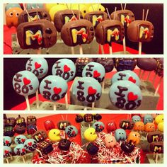 80s party cake pops