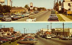 the cars!! Downtown in Rehoboth beach, Delaware....sixties? Seventies?
