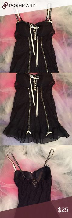 Seductivewear nightie New. Never worn. Perfect condition. Just so beautiful and sexy. Adjustable straps. Light padding in bra. Sheer lace. Seductivewear Intimates & Sleepwear