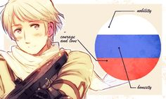 ♣/♣ Hetalia: flags and their meanings - Russia- I find it slightly weird the editor of this beauty used Russia shooting a Machine gun.